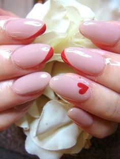 Pink nails #nails, #hearts, #pinsland,