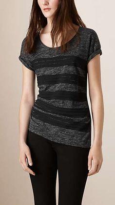 Stretch Linen Virgin Wool T-shirt