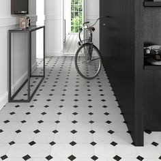 SomerTile 12.5x12.5-in Spiral 1x2-in White/Black Porcelain Mosaic Tile (Pack of 10) - 12453976 - Overstock Shopping - Big Discounts on Somertile Wall Tiles