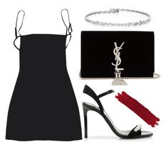 """""""#687"""" by mora-143 ❤ liked on Polyvore featuring Lanvin, Yves Saint Laurent and By Terry"""