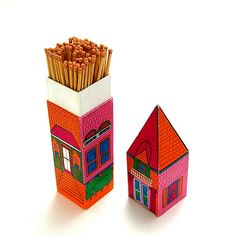 1960s house matchbox ✭ packaging ✭ vintage graphic inspiration