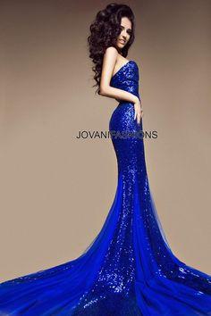 #Jovani cobalt strapless gown. #Jovanidresses  http://www.jovani.com/evening-dresses