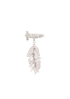 Elise Dray Earrings :: Elise Dray white gold and grey diamonds Plume cartilage earring | Montaigne Market