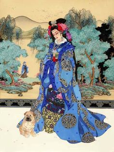"""Lady of Valor"" by Caroline Young - A painting of Diao Chan, one of the famed Four Great Beauties of China; more info can be found here: http://www.carolineyoung.com/storvalor3.htm"