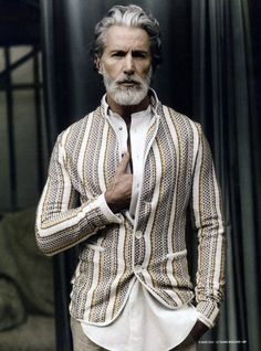 Can't wear a beard better than this right now. Kudos to this guy for also taking the cardigan to the next level.
