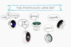 Photojojo's Phone Lenses(2 NEW kinds!) - Pro-quality glass lenses that work on any phone. iPhone, Android, iPads, iPods, and more! ($49.00, http://photojojo.com/store)