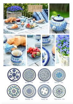A picknick in the park in I love these plates, looks so nice on the table! Polish Pottery, Pottery Barn, Tea Time, Stoneware, Table Settings, Porcelain, Ceramics, Dishes, Tableware