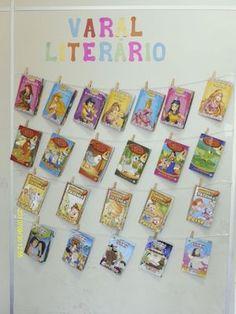 Que tal deixar os livrinhos expostos em um varal ao alcance das crianças?