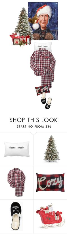"""""""I 💕 Clark"""" by idocoffee ❤ liked on Polyvore featuring Frontgate, Gap, St. Nicholas Square, Kate Spade, cozy, plaid, chirstmas and griswald"""