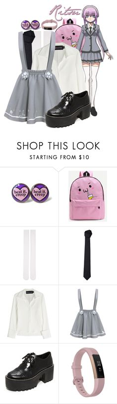 """""""Ritsu ~ Assassination Classroom"""" by freezespell ❤ liked on Polyvore featuring WithChic, Marieyat, Armani Collezioni, Brandon Maxwell, Alice + Olivia, Fitbit, Inspired, anime, CasualCosplay and manga"""