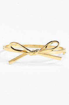 "So pretty: Kate Spade ""skinny mini"" bow bangle bracelet."