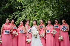 Wedding chalkboards are one of our favorites! This wedding, each bridesmaid wrote how they met the bride on their board.. So cute // Photo by Jennie Andrews  #wedding #castletonfarms #weddingideas #bridesmaidsdresses #bridesmaids