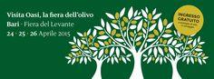 » #oasi #olio #ambiente #salute #olivo #innovazione ✔ AGENDA PUGLIESE [#agendapugliese] > a cura de #ITIPICIDIPUGLIA  OASI: A BARI LA GRANDE FESTA DELL'OLIVO - BARI, PUGLIA  » Leggi → http://www.itipicidipuglia.it/?p=2960 » per segnalare i tuoi eventi scrivi a → press@itipicidipuglia.it  Olivo. Ambiente. Salute. Innovazione. Quattro temi, quattro parole chiave, per inanellare l'acronimo OASI, ossia la Fiera dell'olivo in programma a Bari, alla Fiera del Levante, dal 24 al 26 aprile