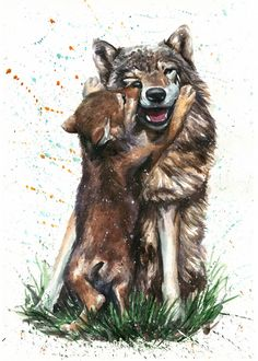 """Wolf in the Snow Howling Picture Print Choose Canvas or Fine Art A3 10x8/"""" Poster"""