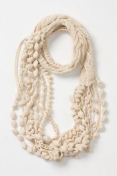 Anthropolgie scarf from 2 years ago... one day I will learn how to make this!! Love it!!