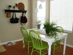 this list called lucky High Table And Chairs, Dining Chairs, Dining Room, Dining Table, Neutral Palette, Wishbone Chair, My House, Green, Furniture