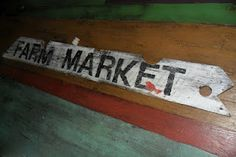 Farm market painted sign