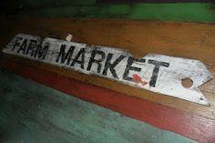 Farm market painted sign