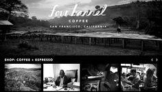 Four Barrel #coffee San Francisco Coffee, Beautiful Sites, Espresso Coffee, Barrel, California, Expresso Coffee, Barrel Roll, Barrels