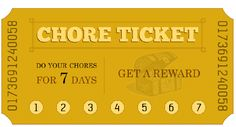 Printable chore ticket punch cards for summer from MomAdvice.com.