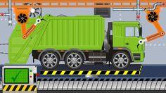 New Garbage Truck   Toy Factory   Video For Kids - Nowa śmieciarka z Fab...