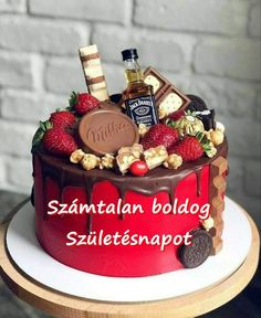 Greetings Images, Food And Drink, Happy Birthday, Alcohol, Facebook, Cake, Ethnic Recipes, Flowers, Desserts