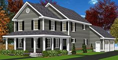 Do you know Modular? We do! The Amherst is a Modular New England Style house. Click to see plan.