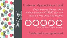 Loving my new customer appreciation cards! Want one? Just ask!