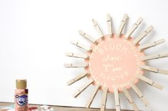 Looking for a way to spice up your dorm room or home? This DIY clothespin picture display is inexpensive and easy! Check out the post to find out how to make it! Diy Gifts For Kids, Diy Gifts For Boyfriend, Diy For Kids, Crafts For Kids, Diy Dorm Decor, Dorm Decorations, Clothes Pin Wreath, Wedding Invitation Wording, Christmas Diy