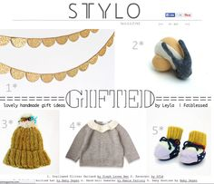 Stylo Magazine Issue 03, page 71  www.stylomagazine.com Hand Knitted Sweaters, Knitted Hats, Baby Booties, Baby Hats, Hand Knitting, Garland, Handmade Gifts, Magazine, Animal