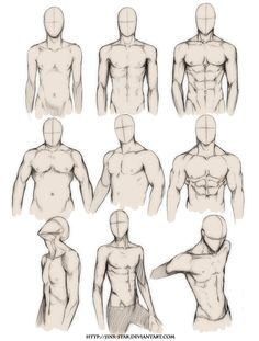 Sketch of Different Male Bodies