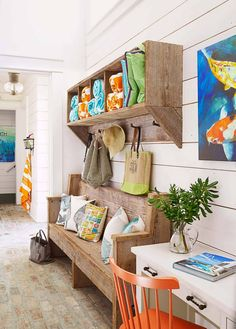 Designed by T. Adams Studio, this modern-rustic beach house in Santa Rosa Beach, Florida is what dreams are made of. Contemporary Beach House, Decor, Florida Home, Country Style Architecture, Florida Beach House, Old Farm Houses, Brick Flooring, Home Decor, Beach House Decor