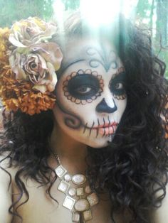 We're getting out the face paints tomorrow for some seriously sick sugar skull makeup.. What are your costume plans for #Halloween?