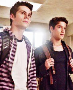 Dylan O'Brien and Tyler Posey. Teen wolf season 3B