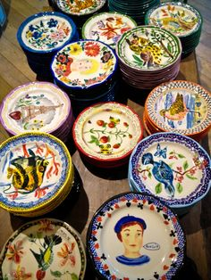 Anthropologie pottery. I collect these Natalie Lete plates!
