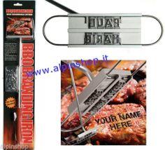 Marchiatore per Bistecche BBQ Barbecue Griglia la carne col tuo Nome marchio!