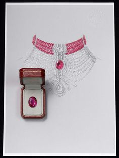 Cartier's Reine Makéda necklace, which will be on display at the 2014 Biennale de Paris, can also be worn as two separate pieces of jewellery: a ruby choker and a diamond necklace.