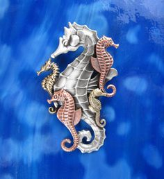 Seahorse Jewelry Pendant/Brooch-sterling silver-copper-brass oxidized satin finish on Etsy, $22.00