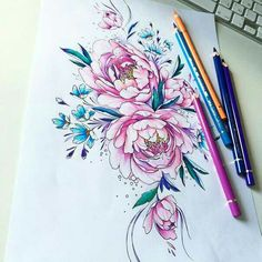 Very beautiful sketch tattoo color