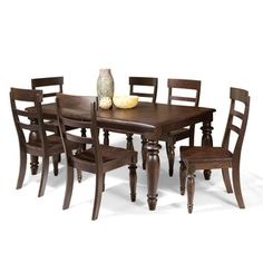 Intercon Bridgeport Solid Birch 7-piece Dinette Set