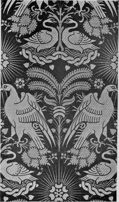 14th Century Sicilian Silk Pattern