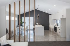 #kitchendesign #pendantlight #scissortruss #stoneisland #mikegreerhomes Brighton Houses, New Brighton, Scissor Truss, Divider, Kitchen Designs, Room, Kitchens, House Ideas, Furniture