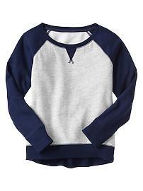 Baseball tunic pullover
