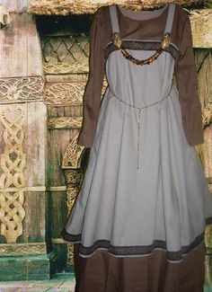 Norse Viking Apron Overdress with undergown