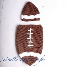 Infant Crochet Football Cocoon-I don t even like football that much but this 854927b9cb8