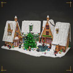 Lego Christmas Sets, Lego Christmas Village, Lego Winter Village, Lego Hogwarts, Lego Halloween, Amazing Lego Creations, Lego Castle, Lego Duplo, Lego Minifigs