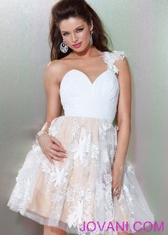 Floral Applique Short Ballgown, Style 158816   according to the trends- this will be in