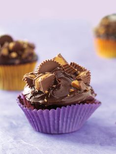peanut butter chocolate cupcakes...rich and delicious!