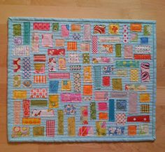 This isn't a crazy quilt, but I love this raw edges especially!