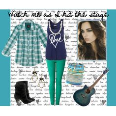 Watch me as I hit the stage, created by me, sugarbear98.polyvore.com